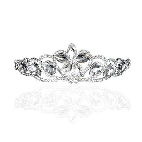 Tiara nupcial de boda corona - LEORX de diamantes de imitación diadema diadema (astilla)