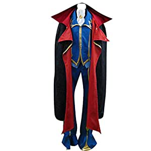 Code Geass Lelouch of the Rebellion Cosplay Costume - ZERO 2nd Ver Large