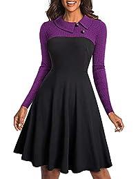 d2b1e26e6872 Amazon.it  vestiti donna invernali - Viola   Donna  Abbigliamento