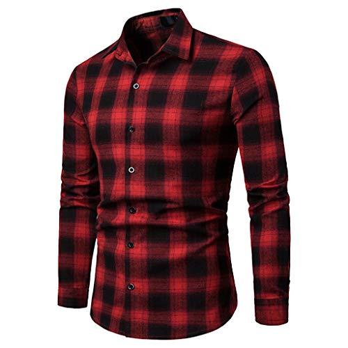 Blusa de Hombre BaZhaHei Camisetas de Cuadros Ocasionales de otoño de los Hombres Camisa de Manga Larga Jersey Blusa con Capucha Superior Manga Larga de Color Block con Capucha para Hombre