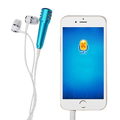 Forepin® Universale Auricolare In Ear Stereo con Mini Microfono - Blu