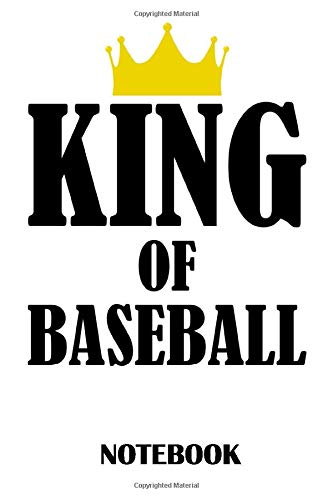 King of Baseball Notebook: ruled paper -120 pages - journal - 6x9 inches -  Baseballball Notebook - Baseballball Notebook for Men