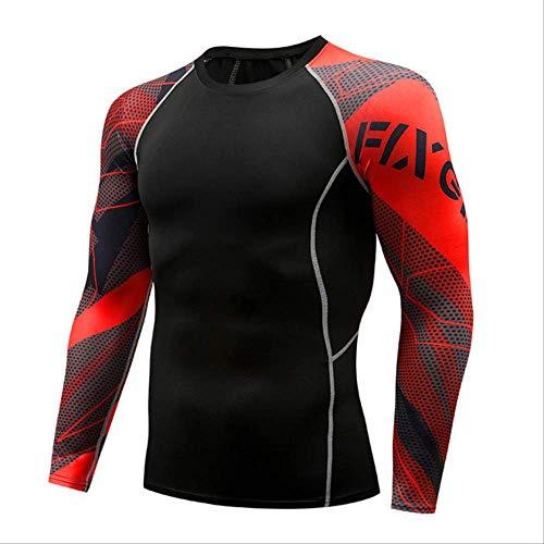Männer Komprimiert 3D Blume Arm Langarm Fitness Körper Männer Crossfit T-Shirt Strumpfhosen Marke Clothin XXL -