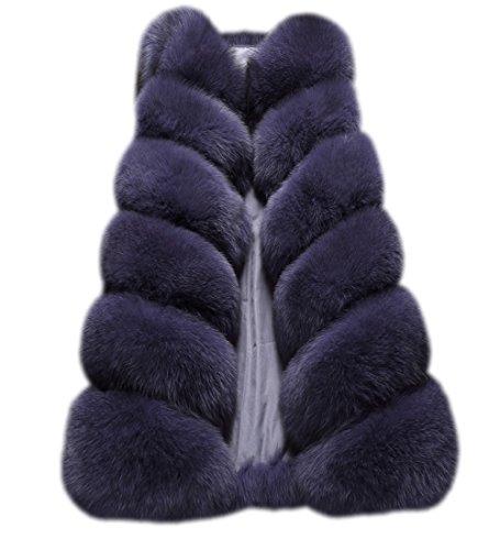 Folobe rivestimento del cappotto del cappotto di pelliccia del faux di inverno delle donne di