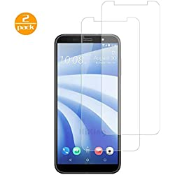 [2 Pack] pour HTC U12 Life Protection écran Film (Transparent), Protection en Verre Trempé Ultra Résistant pour HTC U12 Life Dureté 9H Glass HD Ultra Transparente
