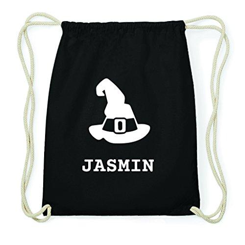 JOllify Turnbeutel Halloween für Jasmin - Hut Hexe Zauberer