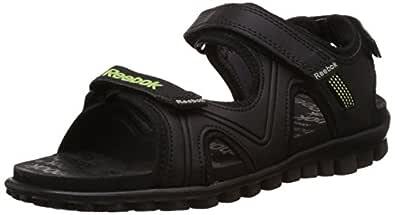 Reebok Boy's Reeflex Jr Black, Ash Grey and Green Sandals and Floaters - 1.5 UK