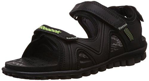 Reebok Boy's Reeflex Jr Black, Ash Grey and Green Sandals and Floaters – 3.5 UK 41m4u7hlN6L