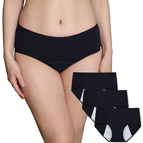 a25bd7a1ef INNERSY Frauen Menstrual Zeitraum Unterwäsche Low Rise Postpartum Slip  Stretch auslaufsichere Baumwolle C Abschnitt Hipster Höschen