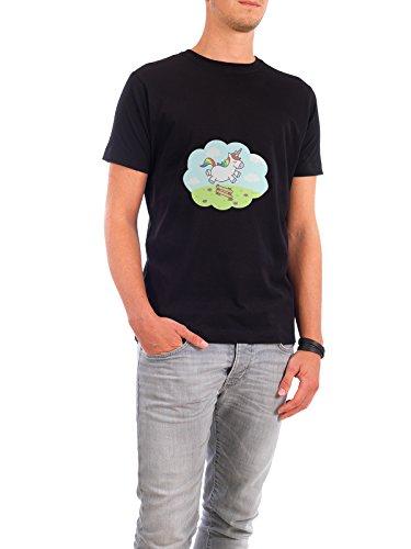 """Design T-Shirt Männer Continental Cotton """"Unicorn Dream"""" - stylisches Shirt Tiere Kindermotive von Cristina Castro Moral Schwarz"""