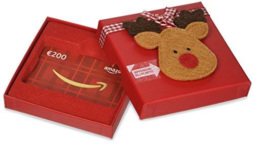 Buono regalo amazon.it - € 200 (cofanetto renne di natale)