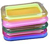 Goolsky 1Pcs portatile gonfiabile piastra sandbox per attività sensoriali cinetiche sabbia esplosione giocare vassoio giocattolo educativo colore casuale