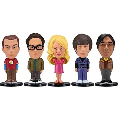 Wacky Wobbler - Pack 5 mini figuras de 8 cm, diseño The Big Bang Theory (Funko FUNWWBT2874)