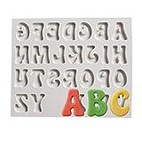 Lalang Silikon Zahlen and Buchstaben DIY Kuchen Ausstecher Alphabet Form Fondant Kuchenform (Alphabet A)