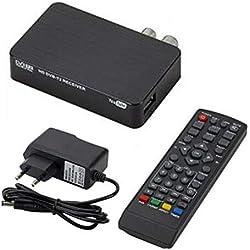 Décodeur TNT HD Regarder, enregistrer, lire et mettre en pause la TV en direct en haute définition 1080p - Sortie HDMI AV pour anciens et nouveaux téléviseurs (9.2x5.7x2cm)