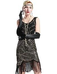 Babeyond Vestito Abito Anni 20 Donna Vestito Cocktail Donna Vestito Gatsby  Donna 1920s Flapper Dress Vestito c167f43d685