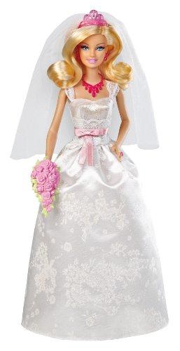 Barbie Mattel X9444 - Braut, Puppe mit Diadem, Halskette und Bouquet