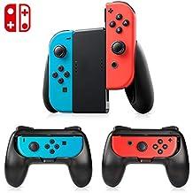 Tres mandos Kits de protección,Kits de mandos para proteger JOY CON (Joy con no incluido en el paquete),Empuñaduras de control kit Grip,funda kits protección Mandos,kits para Mandos Nintendo Switch