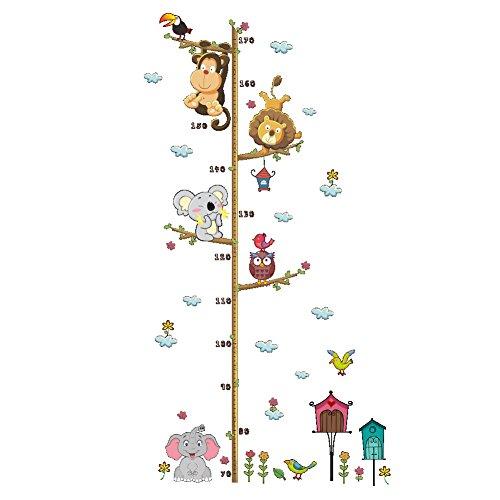 New Cartoon Elephant Lion Zoo Height Paste Children'S Room Wall Decoration Wall Sticker