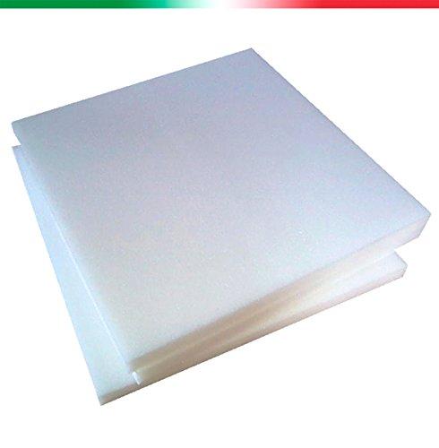 SPUGNA 4 Pezzi Quadrati Di Imbottiture Per Sedie Poliuretano Espanso Alta Densita' 30 Spessore 3 Centimetri Misura 40x50