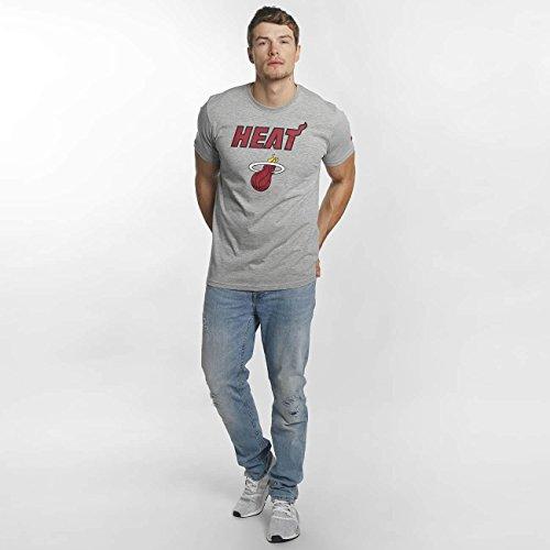 New Era Uomo Maglieria/T-Shirt Team Logo Miami Heat Grigio