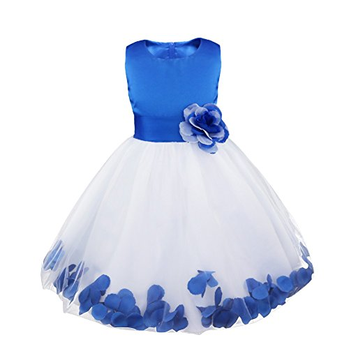 CHICTRY Petals Bow Princess Wedding Bridesmaid Formal Pageant Party Flower Girls Dresses