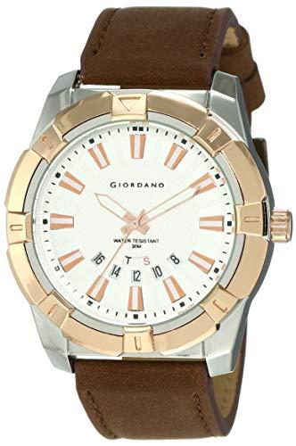 Giordano Analog White Dial Men's Watch-C1111-04