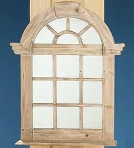 Gilde holz spiegel sprossenfenster naturbraun k che haushalt - Spiegel sprossenfenster ...