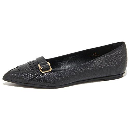 Tod's 9227N Ballerina FRANGE ANELLI Nero Ballerine Donna Shoes Women [37]