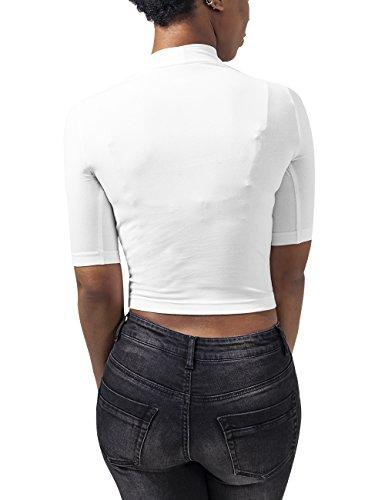 Urban Classics Damen T-Shirt Ladies Cropped Turtleneck Tee Weiß (white 220)