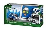 BRIO World 33863 - Batterielok Blauer Oskar mit APP Steuerung, bunt
