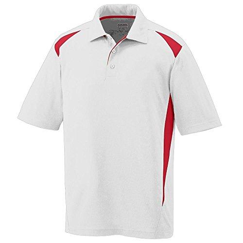 Augusta Herren Poloshirt Mehrfarbig - Weiß/Rot