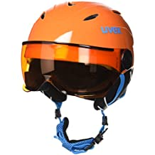 Uvex Junior visor - casco de esquí para niño, - orange, 54-56 cm