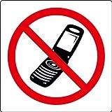 Punto di chiamata internazionale vietato l' uso di telefoni cellulari etichetta segno simbolo–Adesivo 110mm x 110mm