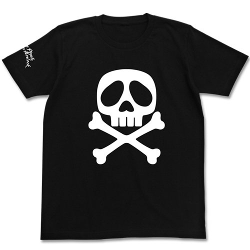 Captain Harlock Harlock Skull T-shirt Black Size: XL (japan import)