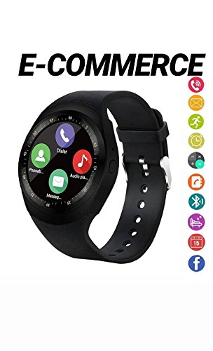 smart watch Bluetooth SmartWatch,Round Smartwatch contapassi fitness tracker con slot per SIM Card TF chiamate notifiche per iOS Android Samsung Huawei Sony LG HTC Google per donna,uomo e bambini