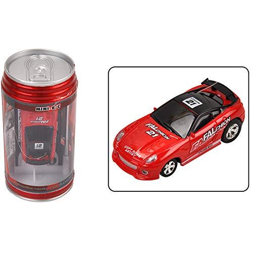 QHWJ Kinder Fernbedienung Auto, dosen Fernbedienung Auto koks kann Fernbedienung Mini Auto Vier-Wege Lade Fernbedienung spielzeugauto,Red