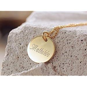Namenskette Familienkette Kette Gravur Kette Personalisiert Initialen Hochzeit Kindernamen Gravur Kette mit Gravuranhänger Geburtskette Sterling silber Kette