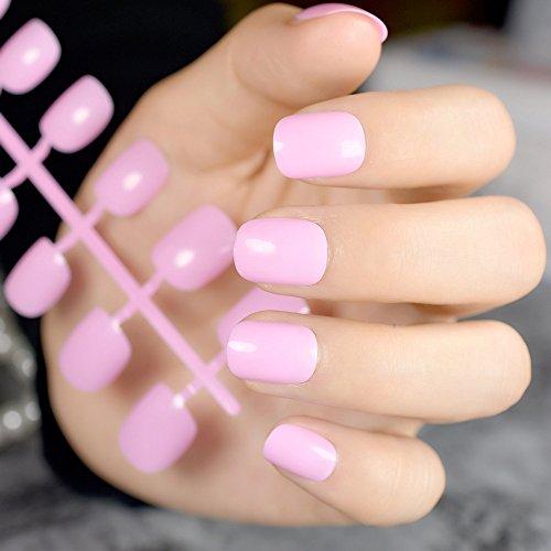 Lucido baby rosa nail art unghie finte punte corte bambini piccoli nail tips carnevale finger nails bambini festival decorazione suggerimenti