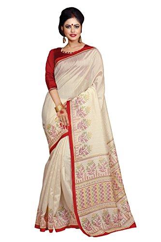 Applecreation Women's bhagalpuri sarees (printed sarees_6PJ701_FreeSize)