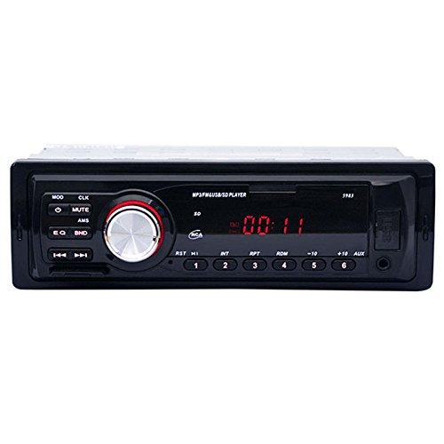 WOVELOT 1 din Autoradio Stereo Audio de Voiture 12V Soutien FM SD AUX Interface USB Au Tableau de Bord 1 din Dispositif de Lecteur recepteur de Voiture MP3 Chargement du Telephone