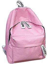 Mochilas escolares juveniles, MINXINWY 2019 bolsas de viaje Bolsos mochila mujer Mochila color liso Mochilas