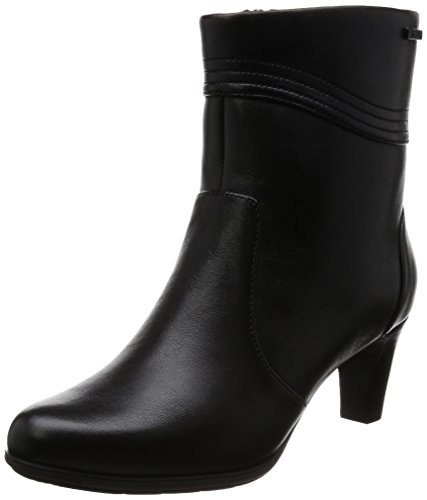 Rockport Total Motion Melora Wave Bootie, Stivaletti Donna, Nero (Nero (Black Leather)), 41 EU