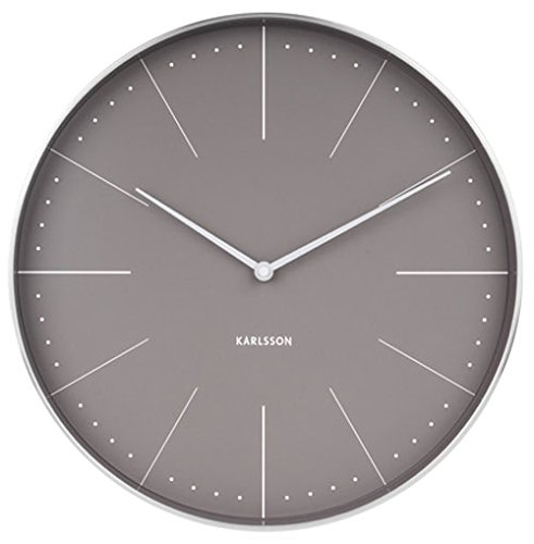 Karlsson Normann Uhr, Wanduhr, Stahl, Grau, One Size