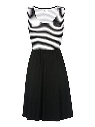 Pussy Deluxe Best Stripe Kleid schwarz L