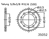 Kettenrad Stahl 47 Zähne 530er Teilung (5/8x3/8) für GSF 1250 SA Bandit CH1131 2007-2015