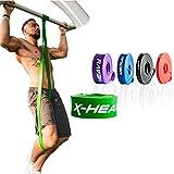 ActiveVikings Pull-Up Fitnessbänder | Perfekt für Muskelaufbau und Crossfit Freeletics Calisthenics | Fitnessband Klimmzugbänder Widerstandsbänder (E - Grün : X-Heavy (sehr starker Widerstand))