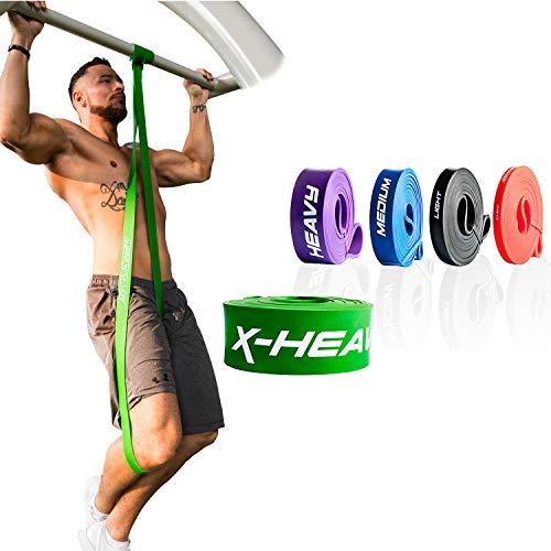 ActiveVikings® Pull-Up Fitnessbänder | Perfekt für Muskelaufbau und Crossfit Freeletics Calisthenics | Fitnessband Klimmzugbänder Widerstandsbänder (5 - Grün : X-Heavy (sehr starker Widerstand))