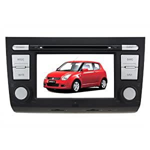 "Koolertron For 2005-2011 Suzuki Swift In-dash DVD GPS Sat Nav Navigation Player With 6.2"" Digital HD Touchscreen + Bluetooth/ iPod control/ Anti-shock/ Radio/ Steering Wheel Control"