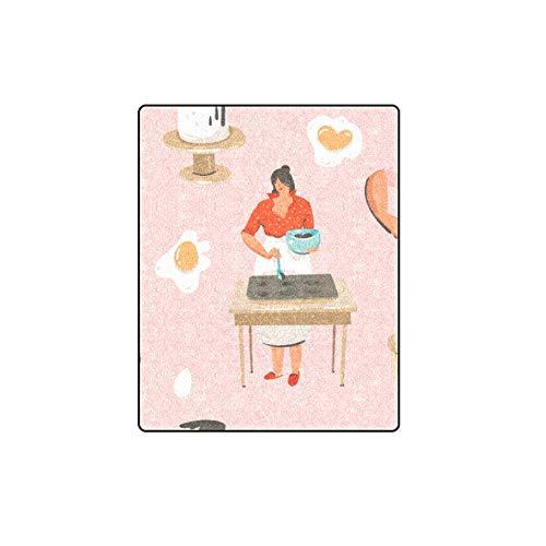 Rtosd Kuchen Köstliche Snacks Modell Benutzerdefinierte Winter Leicht Komfortable Pelz Fuzzy Super Weiches Fleece Couch Sofa Und Bett Decke Für Baby Frauen Größe 40x50 Zoll - Schürze Couch